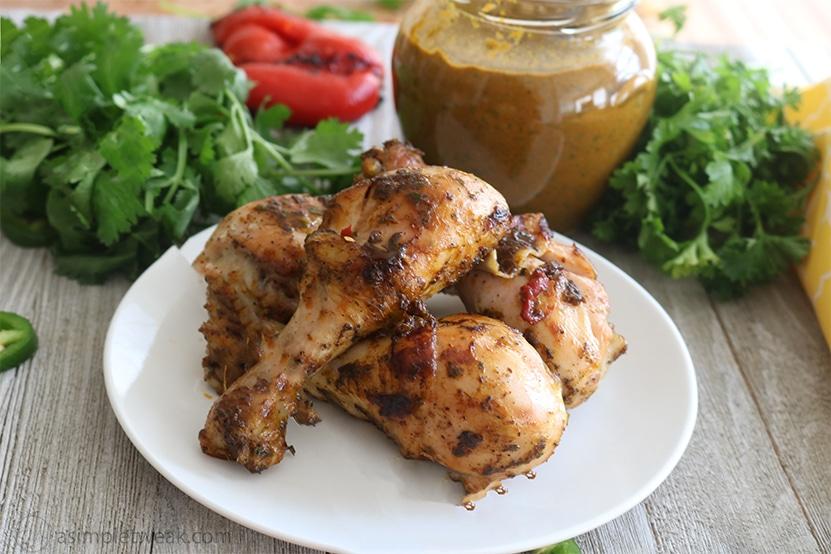 Drumsticks with Fire-Roasted Red Peppers Seasoning.