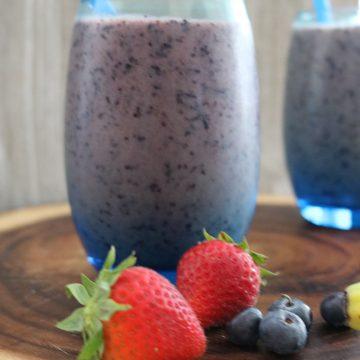 Blueberry Strawberry Smoothie