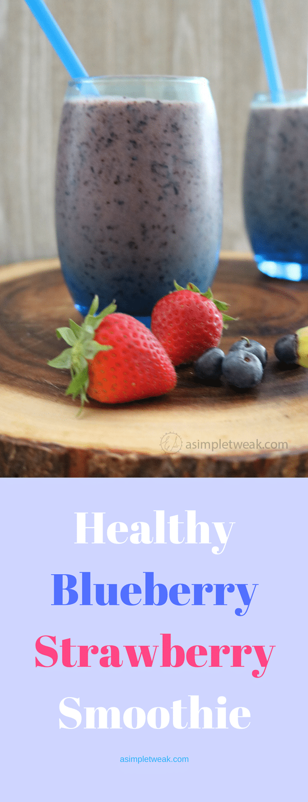 Healthy Blueberry Strawberry Smoothie