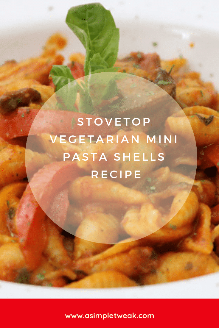 Stove-Top Vegetarian Mini Pasta Shells Recipe