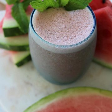 Healthy-breakfast watermelon smoothie