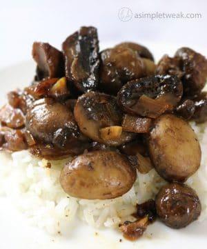 Mushroom Adobo Filipino-Style Recipe