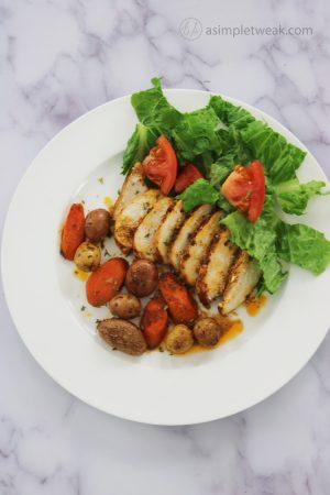 The Best One-Pan Chicken Breast Garlic-Cilantro Recipe