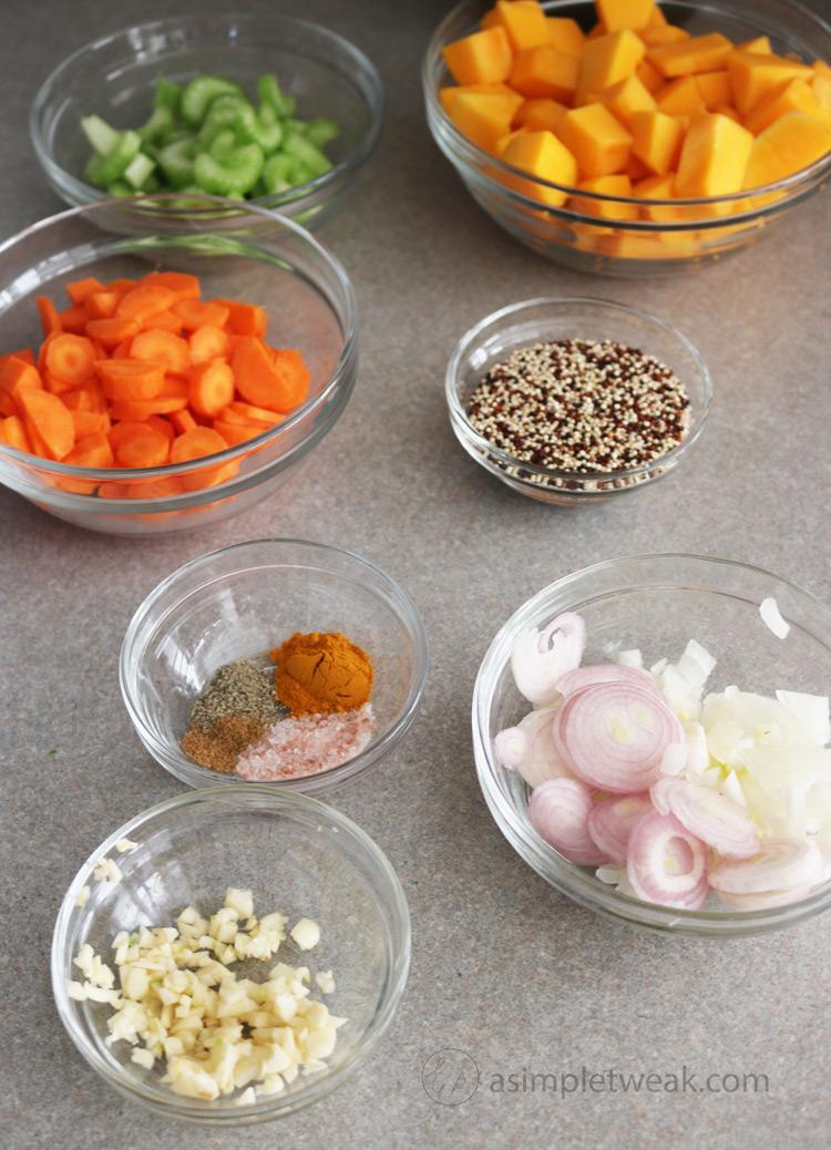 How to make Butternut Squash Quinoa Soup
