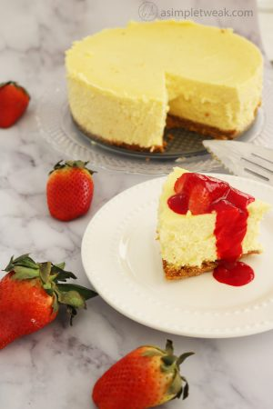 The Most Smooth And Flavorful Strawberry Cheesecake